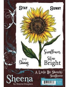 Sheena Douglass A Little Bit Sketchy A6 Stamp Set - Sunflower