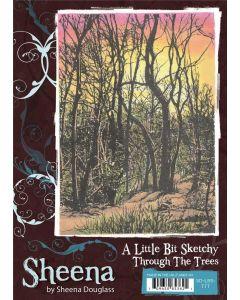 Sheena Douglass A Little Bit Sketchy A6 Stamp Set - Through The Trees