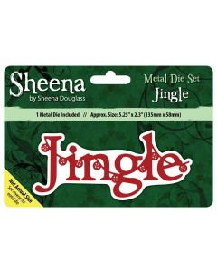 Sheena Douglass Christmas Sentiment Metal Die - Jingle