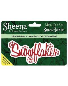 Sheena Douglass Christmas Sentiment Metal Die - Snowflakes