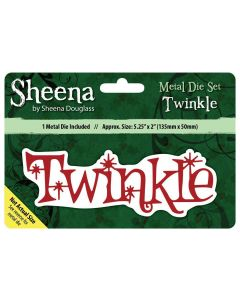 Sheena Douglass Christmas Sentiment Metal Die - Twinkle