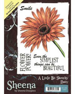 Sheena Douglass A Little Bit Sketchy A6 Rubber Stamp Set - Daisy