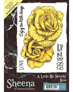 Sheena Douglass A Little Bit Sketchy A6 Rubber Stamp Set - Rose
