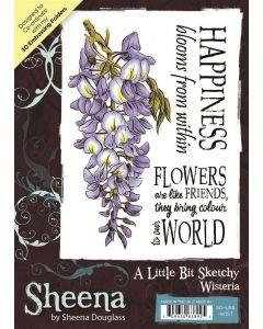 Sheena Douglass A Little Bit Sketchy A6 Rubber Stamp Set - Wisteria