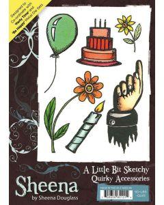 Sheena Douglass A Little Bit Sketchy A6 Rubber Stamp Set - Quirky Accessories