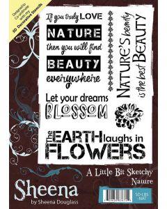 Sheena Douglass A Little Bit Sketchy A6 Rubber Stamp Set - Nature