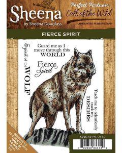 Sheena Douglass Perfect Partners Call of the Wild A6 Rubber Stamp Set - Fierce Spirit
