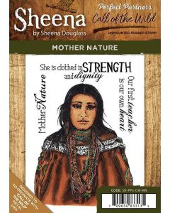 Sheena Douglass Perfect Partners Call of the Wild A6 Rubber Stamp Set - Mother Nature