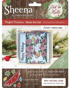Sheena Douglass Perfect Partners Deck the Halls Metal Die - Poinsettia Delights