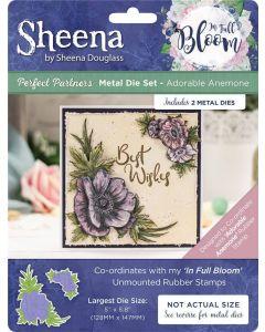 Sheena Douglass Perfect Partners In Full Bloom Metal Die - Adorable Anemone