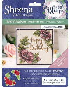 Sheena Douglass Perfect Partners In Full Bloom Metal Die - Precious Poppy
