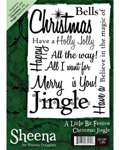 Sheena Douglass A6 Christmas Rubber Stamp - Christmas Jingle