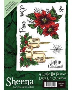 Sheena Douglass A6 Xmas Rubber Stamp - Light Up Christmas