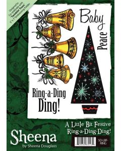 Sheena Douglass A6 Christmas Rubber Stamp Set - Ring-a-Ding-Ding!