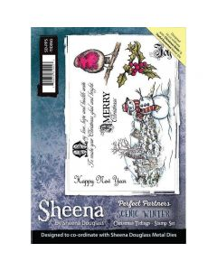Sheena Douglass Perfect Partners Scenic Winter A5 Stamp Set- Christmas Tidings Stamp