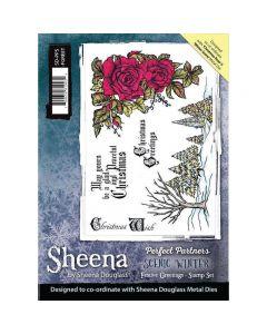 Sheena Douglass Perfect Partners Scenic Winter A5 Stamp Set - Festive Greetings