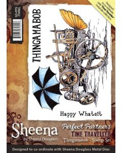Sheena Douglass Perfect Partners Time Traveller A6 Rubber Stamp Set - Thingamabob