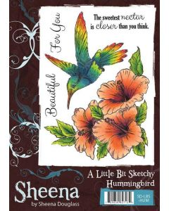 Sheena Douglass A Little Bit Sketchy A6 Rubber Stamp Set - Hummingbird