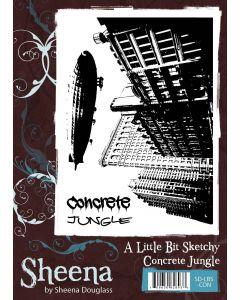 Sheena Douglass A Little Bit Sketchy A6 Rubber Stamp Set - Concrete Jungle