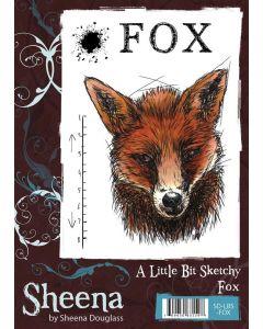 Sheena Douglass A Little Bit Sketchy A6 Rubber Stamp Set - Fox