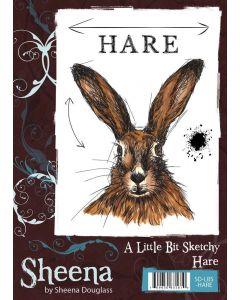 Sheena Douglass A Little Bit Sketchy A6 Rubber Stamp Set - Hare