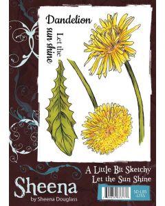 Sheena Douglass A Little Bit Sketchy A6 Rubber Stamp Set - Let the Sun Shine