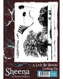 Sheena Douglass A Little Bit Sketchy A6 Rubber Stamp Set - Looking Up