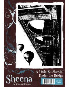 Sheena Douglass A Little Bit Sketchy A6 Rubber Stamp Set - Under the Bridge