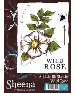 Sheena Douglass A Little Bit Sketchy A6 Rubber Stamp Set - Wild Rose