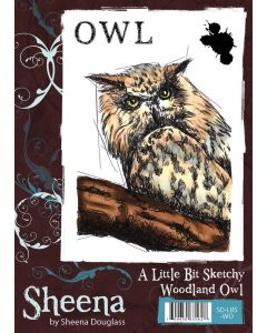 Sheena Douglass A Little Bit Sketchy A6 Rubber Stamp Set - Woodland Owl