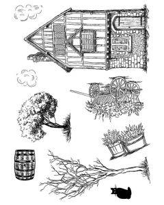 Sheena Douglass Build-A-Scene Stamp - Tudor Times