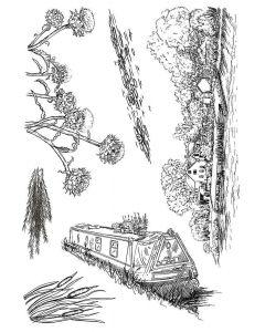 Sheena Douglass Build-A-Scene Stamp - Watermill