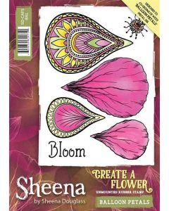 Sheena Douglass Perfect Partners Create a Flower A6 Rubber Stamp - Balloon Petals