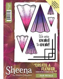 Sheena Douglass Perfect Partners Create a Flower Rubber Stamp - Fan Petals