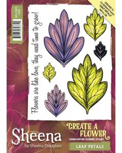 Sheena Douglass Perfect Partners Create a Flower Rubber Stamp - Leaf Petals