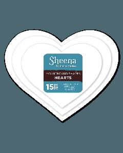 Sheena Douglass Paint Fusion Mountboard Shapes - Hearts