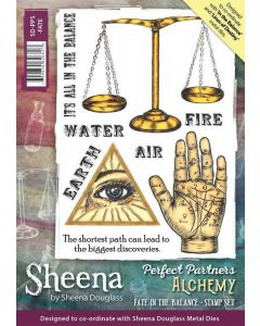 Sheena Douglass Perfect Partners Alchemy A5 Rubber Stamp - Fate in the Balance