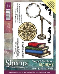 Sheena Douglass Perfect Partner Alchemy A5 Unmounted Rubber Stamp Set - Learn to See