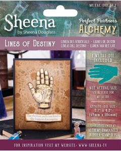 Sheena Douglass Perfect Partners Alchemy Metal Die - Lines of Destiny