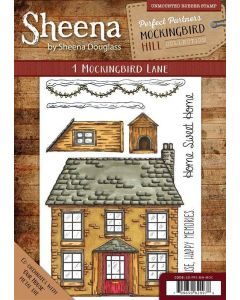 Sheena Douglass Perfect Partners Mockingbird Hill A6 Rubber Stamp Set - 1 Mockingbird Lane