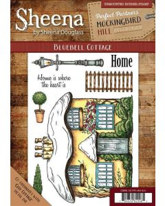 Sheena Douglass Perfect Partners Mockingbird Hill A6 Rubber Stamp Set - Bluebell Cottage