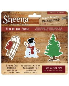 Sheena Douglass Perfect Partners Mockingbird Hill Metal Die - Fun in the Snow