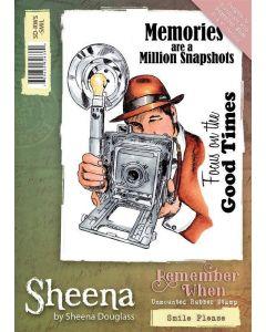 Sheena Douglass Remember When A6 Rubber Stamp Set - Smile Please