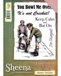 Sheena Douglass Remember When A6 Rubber Stamp Set - Street Cricket