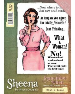 Sheena Douglass Remember When A6 Rubber Stamp Set - What a Woman