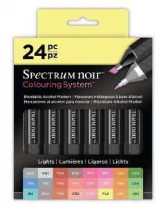Colouring System by Spectrum Noir 24 Pen Set - Lights