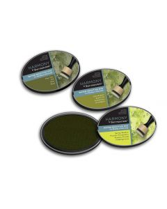 Harmony by Spectrum Noir Water Reactive 3PC Dye Inkpads - Verdant Greens