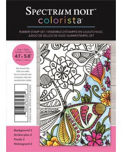 Spectrum Noir Colorista A6 Rubber Stamp - Background 2