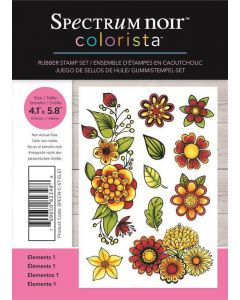 Spectrum Noir Colorista A6 Rubber Stamp - Elements 1