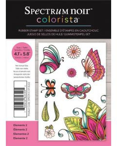 Spectrum Noir Colorista A6 Rubber Stamp - Elements 2